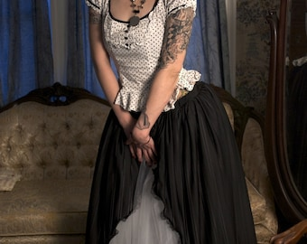 Victorian Gothic Beauty Ball gown tulle skirt prom wedding bridal halloween witchy steampunk goth - You choose size - Sisters of the Moon