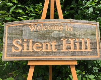 """Famous horror location signs """"Silent Hill"""""""