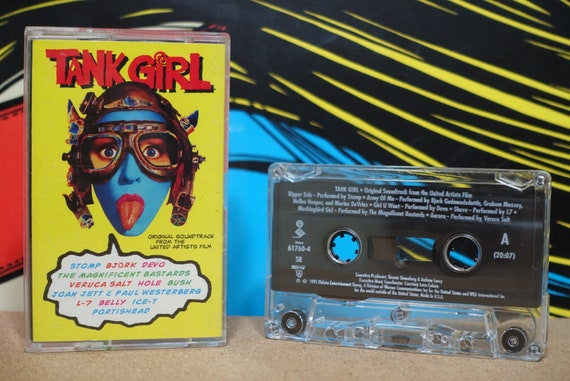 Tank Girl (Original Soundtrack From The United Artists Film) by Various Artists Vintage Cassette Tape