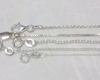 Sterling silver chain - you choose style and length