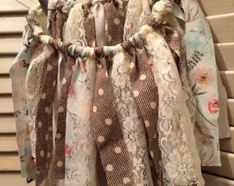 Shabby Chic Fabric Tutu Skirt