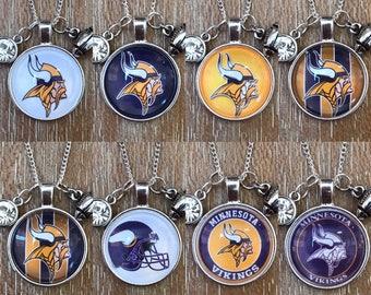 Minnesota Vikings Football Inspired Fan Charm Necklace