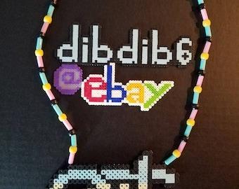 EDC logo kandi perler necklace rave PLUR festival