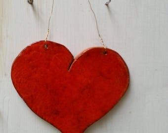 Ceramic Heart for hanging
