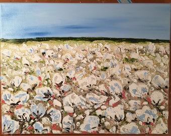 A Little Bit of Cotton, Oil Painting, Impasto