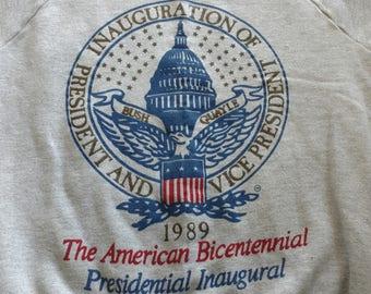 1980s vintage 1989 Republican president and vice president inauguration of George h. W. Bush and Dan Quayle