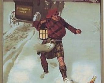 1906 Teachers Whisky Calendar A3 Poster Reprint