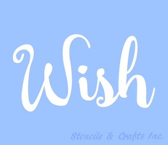 H WISH STENCIL STENCILS Template Templates Craft Word Words - Letter stencil templates