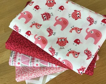 Bro.ther Sis.ter Bundle A in Pink ~ elephants owls baby