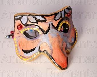 Màskes-Pulcinella Floral Decor Mask