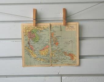 1946 Vintage Southeast Asia Map