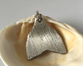 Whale tail pendant - flatware pendant by Freedom & Faith Co