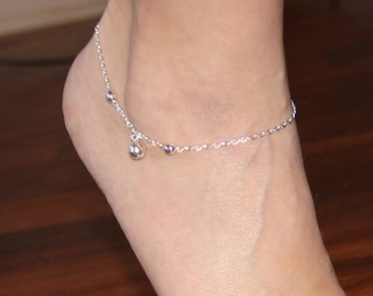 gift minimalist for jewelry amazon black anklet silver om anklets her charm dp cord com ankle with bracelet dainty
