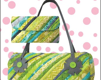 Sophia Grace & Rosie Pattern for Bag and Wallet with Zipper Change Pocket by Cool Cat Creations, make 3 Sets from 1 Jelly Roll, or Bali Pop