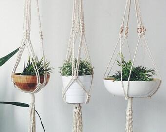 Macrame Plant Hanger. Hanging Planter