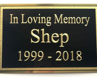 Personalized Brass and Black front Memorial thin Plate Self Adhesive Various sizes available