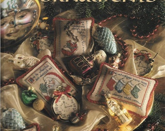 Craft book , Timeless Ornaments, vintage hardback, Christmas needlework