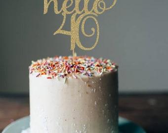 40 cake topper Etsy