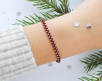 Classic color Burgundy - CLASSIC macramy bracelet macrame bracelet in burgundy color