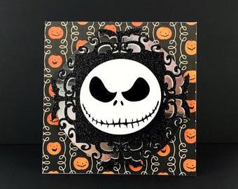 Jack Skellington Greeting Card | Night mare Before Christmas | Pumpkin King | Sally | Halloween | Anniversary | Birthday | Oogie Boogie