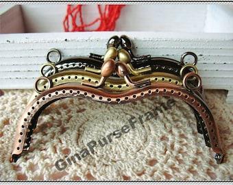 3pieces-11cm(4 1/2 inch) fancy heart-shape eyeglass or sunglasses metal purse frame for glasses case (3colors)