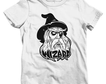 Kids Wizard T-shirt - Baby, Toddler, and Youth Sizes - Wizard Tee, Fantasy Shirt, Cartoon, Horror, Magic - 3 Colors