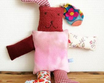 "Stuffed rabbit ""Daisy"", cuddle, stuffed animal, Leukgemaakt, children's toys, kids present, Christmas, birthday gift, little people, baby"