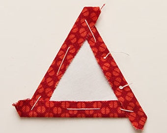 Equilateral Triangle; Snowflakes Freezer Paper Shapes for English Paper Piecing and Applique