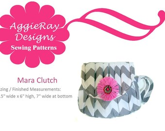 Sale 50% off INSTANT DOWNLOAD Mara Clutch Wristlet PDF Tutorial Sewing Pattern  Wedding Party Bridemaids