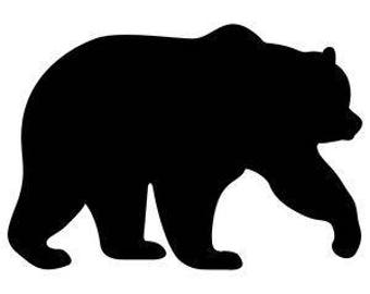 Pack of 3 Bear Style 3 Stencils Made from 4 Ply Mat Board, 11x14, 8x10 and 5x7 -Package includes One of Each Size