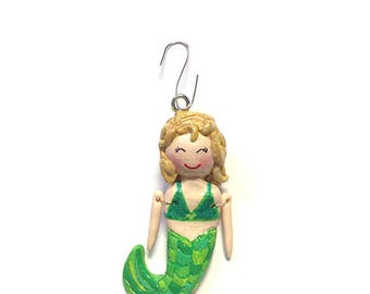 Under the Sea - Mermaid Collection:  Andrina (Ornament)  - CAN BE PERSONALIZED w/ Add-On Option