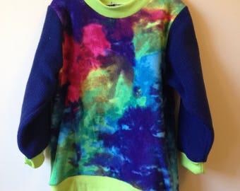 Polar fleece splattered print jumper