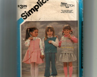 Simplicity Child's Pullover Top, Pull-On Pants and Skirt, Jumper and Vest Pattern 6559
