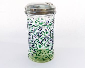Spring sugar dispenser hand painted