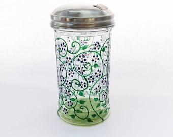 Spring sugar dispenser hand painted
