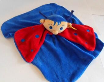 Steiff security blanket, lady bug, Steiff baby blanket, 1250
