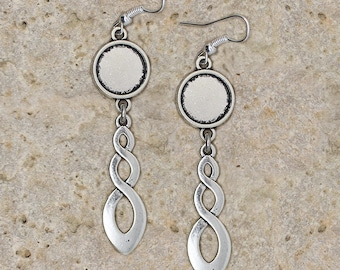 support ring 12 mm intertwining earrings