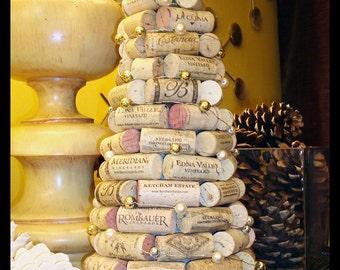 Wine Cork Tree Holiday Decoration