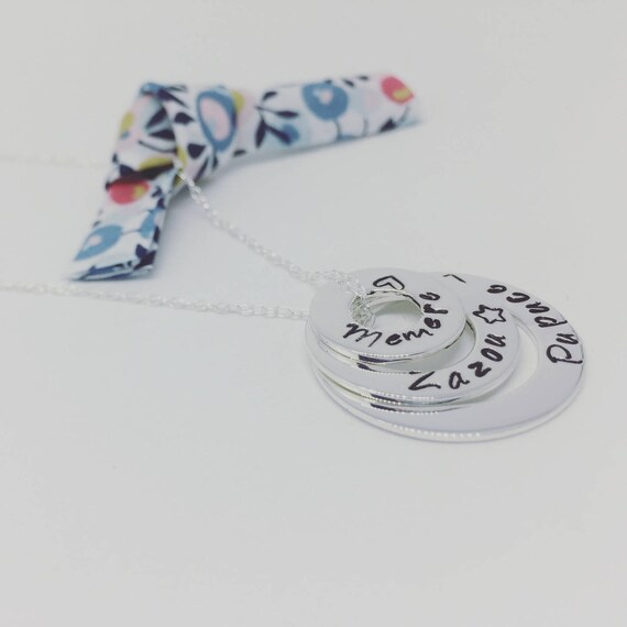 """★ Necklace names personalized ★ Silver 925 ★ necklace chain Silver 925 + 3 pendants 925 sterling silver personalised """"Infinity"""" by Palilo"""