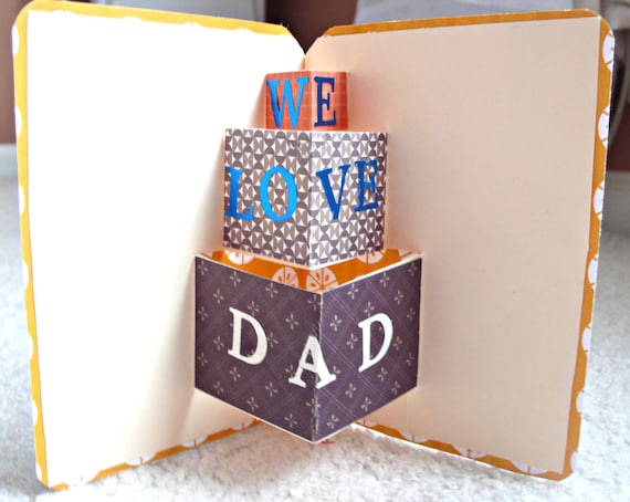 Fathers Day Card Fathers Day Pop Up Card Birthday