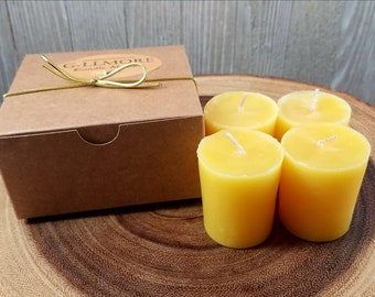 Set of 4 Beeswax Votives