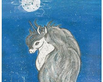 Unicorn Fantasy Moon