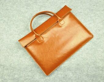 Leather Macbook Portfolio , 13 inch Macbook Leather Case , Macbook Air 13 Sleeve , Macbook Pro Cover , Macbook Pro 13 Retina Sleeve-044