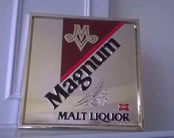 Miller - Magnum Malt Liquor - Original 1981 Collectible Sign