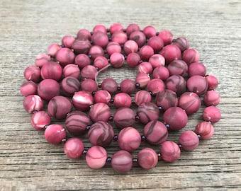 Polymer Clay Bead Set, Handmade Polymer Clay Beads, Fuchsia Beads, Ruby Polymer Beads, TaraCottaBeads, Polymer Beads for Jewelry Making