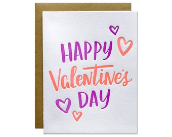 Valentine's Day Letterpress Card