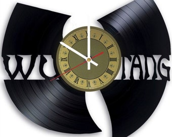 Wu-Tang Clan vinyl clock gift for men women kids birthday home decor - unique design that made out of vinyl LP record