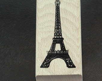 Paris France Eiffel Tower Rubber Stamp