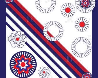 Ornament kerchief bandana print