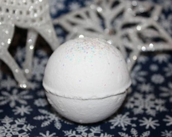 Snowball Bath Bomb, Holiday Bath Fizzy, Winter,  Christmas Gift